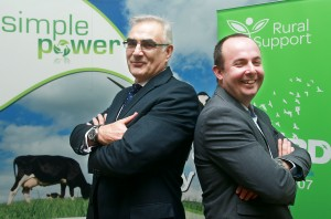 Philip Rainey, chief-executive Simple Power with Jude McCann, chief-executive Rural Support.