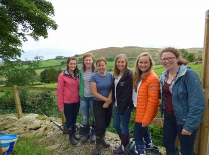 QUB Medical Students visiting Butterlope Social Farm, Plumbridge